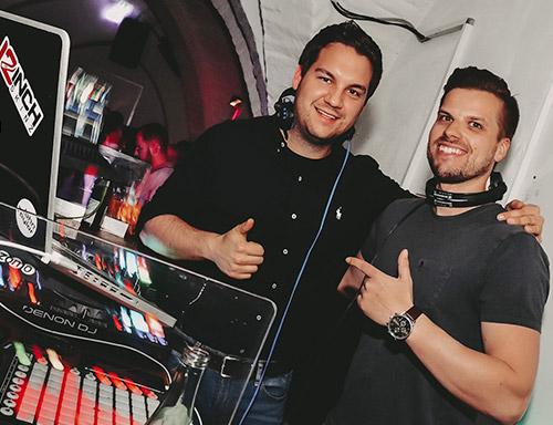 DJ Tommy Loco und DJ John Taylor Isar Almstadl Plattling